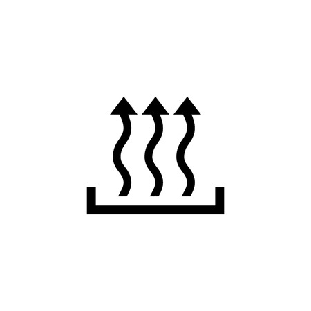 Heat icon three arrow up concept. Vector