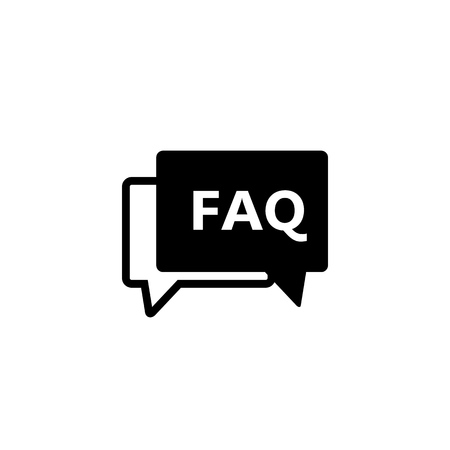 Faq icon vector