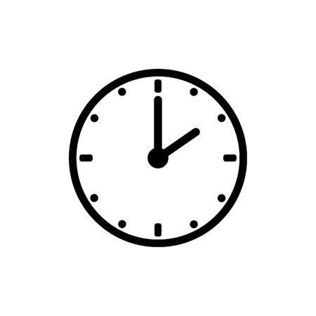 Ikona zegara, wektor ikona czasu