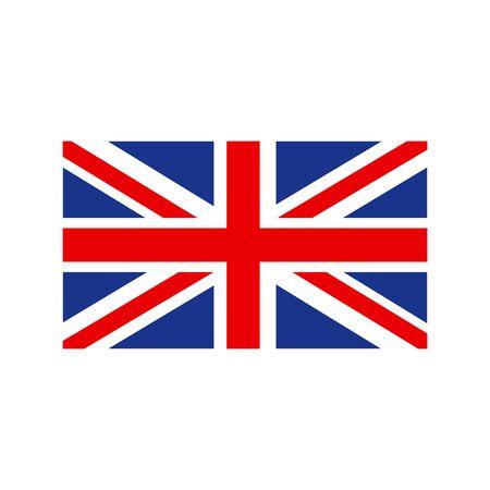 Bandera de Reino Unido. Bandera de Gran Bretaña, bandera británica, Union Jack. Vector
