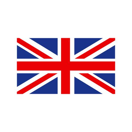 United Kingdom Flag. Flag of the Great Britain, British flag, Union Jack. Vector Illusztráció