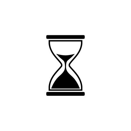 Illustration of hourglass icon on white background. Vector Иллюстрация