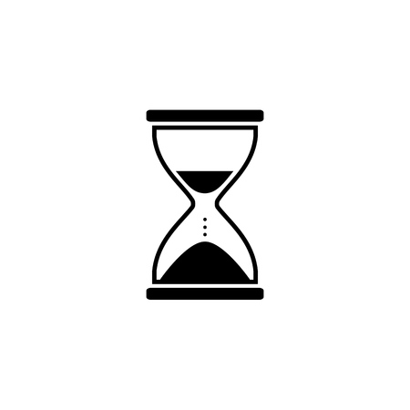 Illustration of hourglass icon on white background. Vector  イラスト・ベクター素材