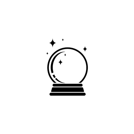 Crystal Ball Magic Icon Vector Template Ilustrace