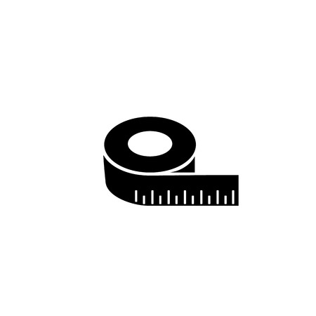 Tape measurement icon symbol template. Vector
