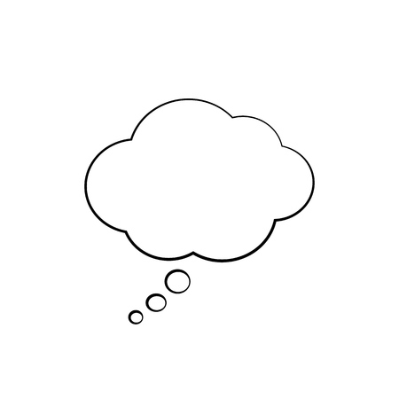 Isolated think cloud. Vector illustration