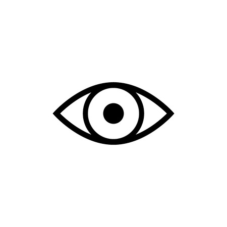 Eye icon vector. Eye symbol. Linear style sign for mobile concept and web design. Eye symbol illustration. Pixel vector graphics - Vector Çizim