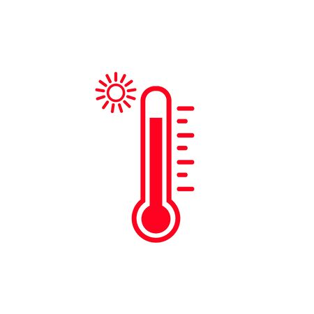 High temperature vector icon on white background  イラスト・ベクター素材