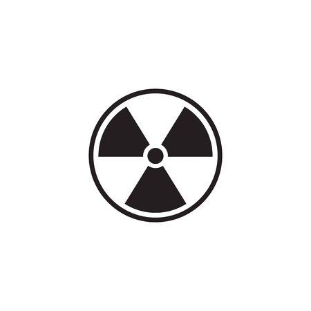 Black Radioactive icon isolated on white background. Radioactive toxic symbol. Radiation Hazard sign. Vector Illustration Иллюстрация