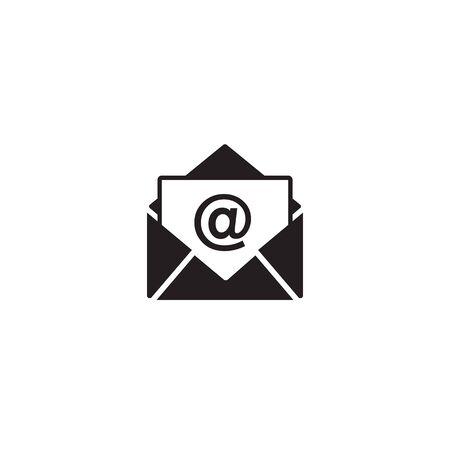 Mail vector icon on white Zdjęcie Seryjne - 128964205