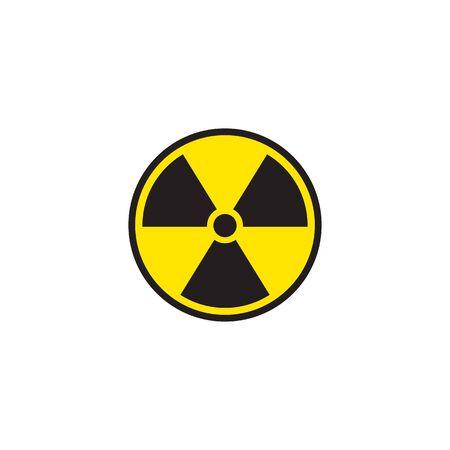 Radiation symbol radiation icon yellow and black. Vector