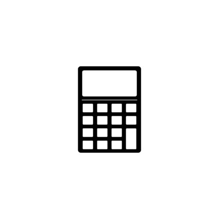 Calculator Silhouette Business Icon  Vector Illustration