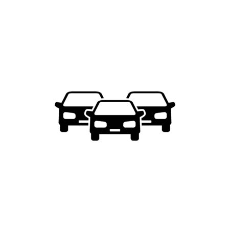 Cars vector icon on white Illustration