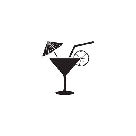 Cocktail icon template. Vector illustration