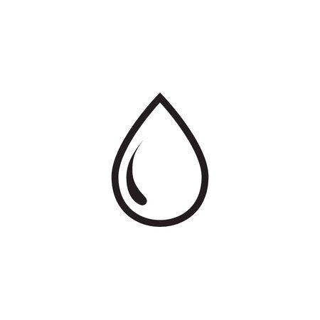 Water Drop Icon Vector Illustration 向量圖像