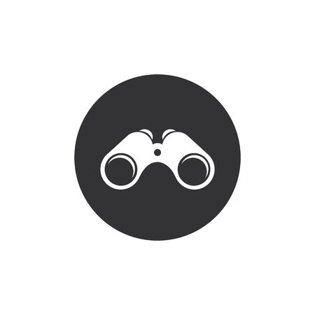 Binoculars icon on white background. Vector illustration