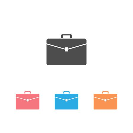 Briefcase vector icon set on white