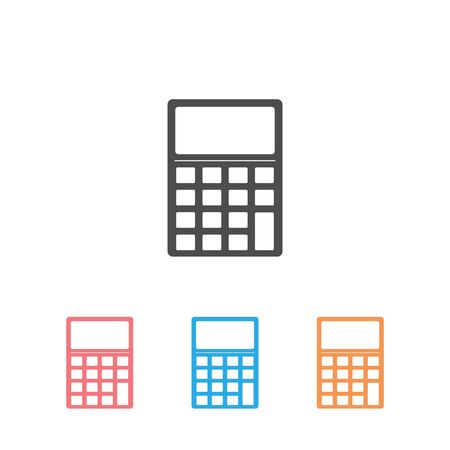 Calculator Silhouette Business Set Icon  Vector Illustration Illustration