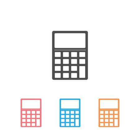 Calculator Silhouette Business Set Icon  Vector Illustration Illustration