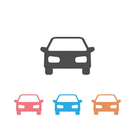 Car vector set icon on white