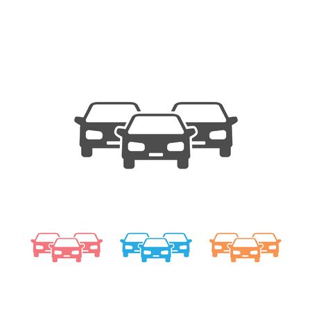 Cars vector icon set on white
