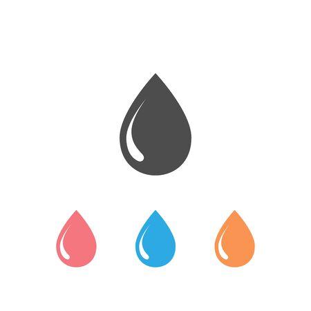 Water Drop Set Icon Vector Illustration
