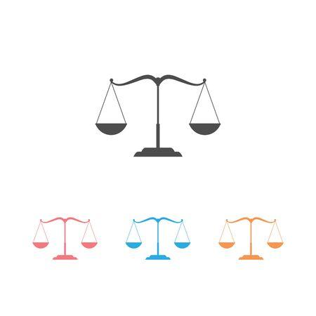 Scales icon set. Vector illustration. Flat design