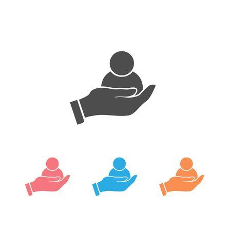 Customer retention icon set. Vector illustration