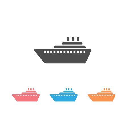 Ship icon set vector. Cruise ship symbol icon illustration
