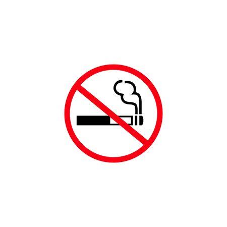 No smoking sign icon. Vector illustration
