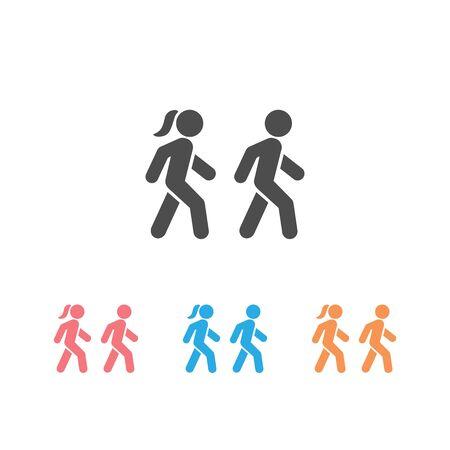 Walk icon set symbol template. Vector illustration