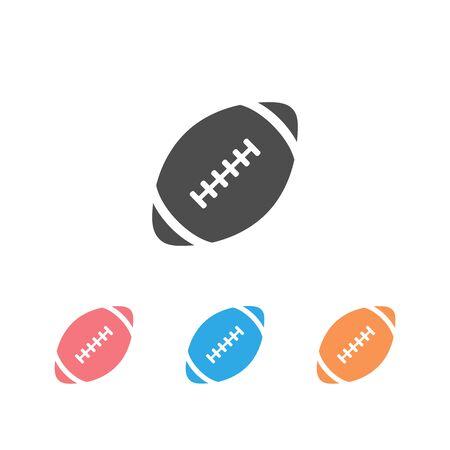 American football icon set . Vector