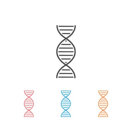 DNA or chromosome abstract strand symbol. Icon set. Vector illustration Imagens - 130204368