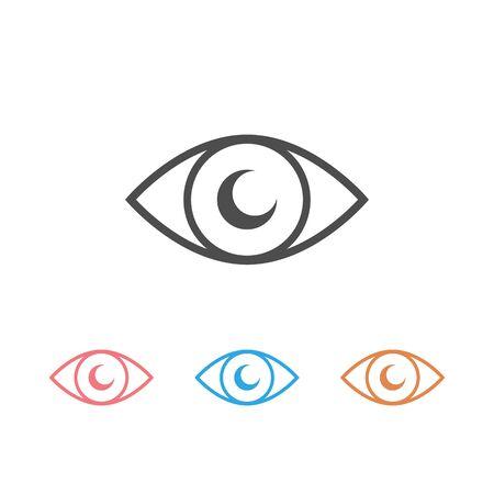 Eye icon set vector, on white background Vektoros illusztráció