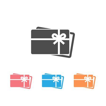 Gift card icon set symbol vector on white background Illustration