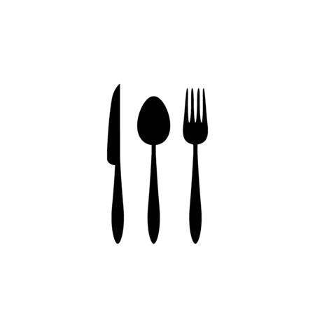 Spoon, fork and knife icon vector