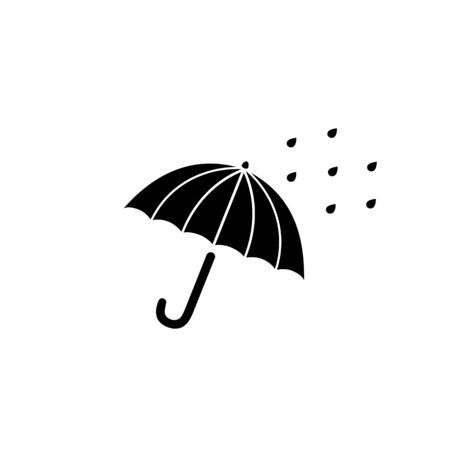 Rain drops umbrella icon. Vector Illustration