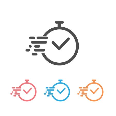 Time icon set vector. Fast time vector icon. Deadline icon vector illustration Banque d'images - 130205445