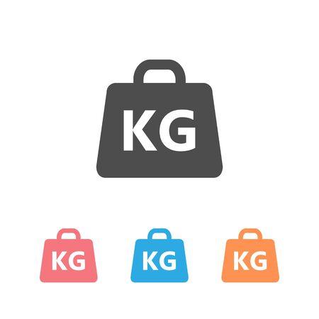 Weight Icon set vector illustration