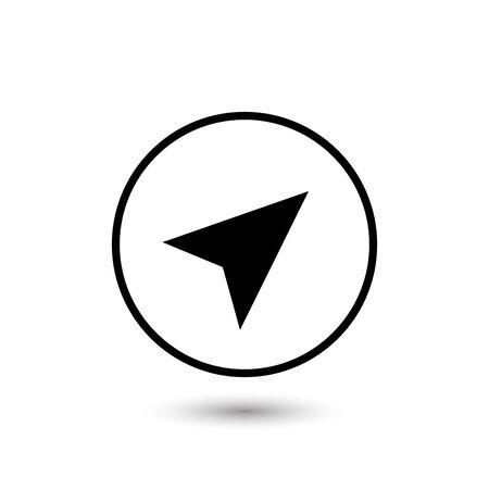Arrow gps icon on white. Vector Ilustração