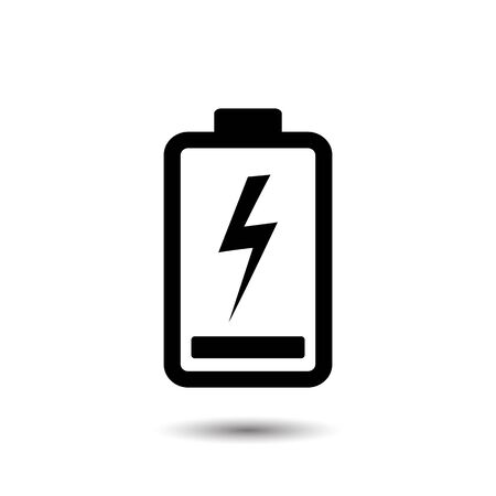 Full battery icon vector illustration Stock Illustratie