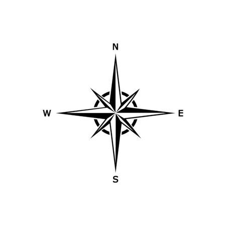 Comapass icon Template vector icon illustration design
