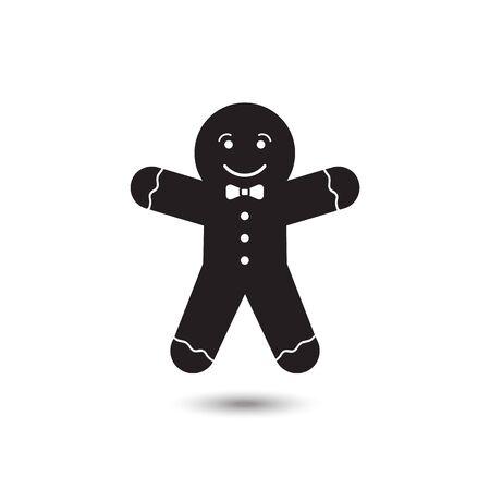 Gingerbread man icon on white background. Vector illustration Vector Illustration
