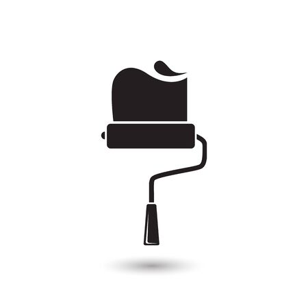 Paint roller icon. Vector illustration