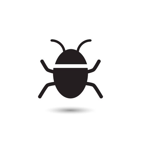 Bug vector icon on white. Vector