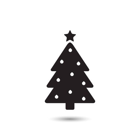 Tree Icon On White Vector Illustration