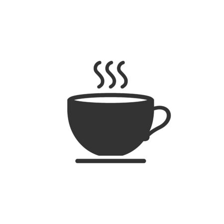 Cup of coffee. Coffee cup icon template black color editable. Coffee symbol Flat vector sign isolated on white background. Simple logo vector illustration for graphic and web design