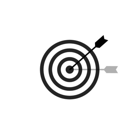 Target and arrow vector icon in trendy flat style. Business concept illustration. Success strategy design