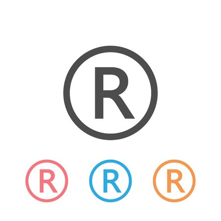 R symbol copyright vector image. Icon set