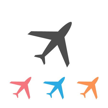 Plane vector icon set, airport and airplane pictogram symbol